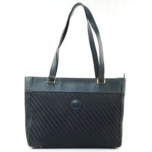 Auth Gucci Tote Bag Navy Blue Canvas #8096G60